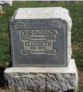 PADDACK, LEWIS - Preble County, Ohio | LEWIS PADDACK - Ohio Gravestone Photos