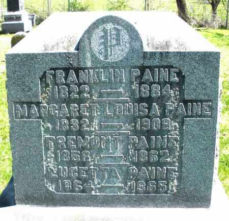 PAINE, FREMONT - Preble County, Ohio | FREMONT PAINE - Ohio Gravestone Photos