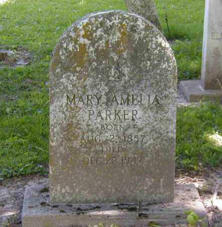 PARKER, MARY AMELIA - Preble County, Ohio | MARY AMELIA PARKER - Ohio Gravestone Photos