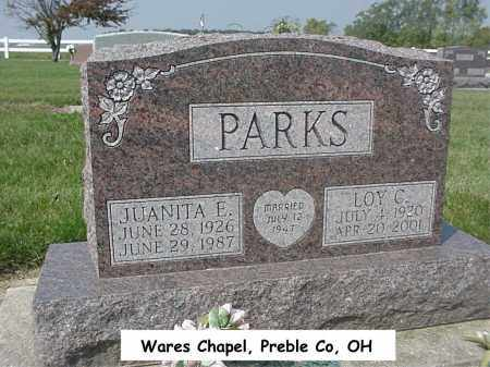 PARKS, JUANITA - Preble County, Ohio | JUANITA PARKS - Ohio Gravestone Photos