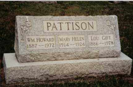 PATTISON, MARY HELEN - Preble County, Ohio | MARY HELEN PATTISON - Ohio Gravestone Photos