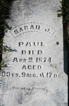 PAUL, SARAH J. - Preble County, Ohio | SARAH J. PAUL - Ohio Gravestone Photos