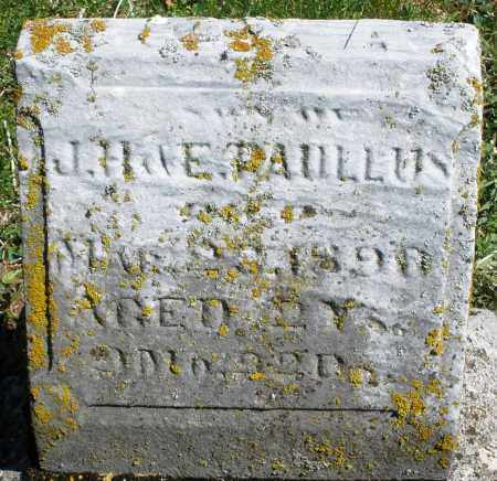 PAULLUS, SON - Preble County, Ohio | SON PAULLUS - Ohio Gravestone Photos