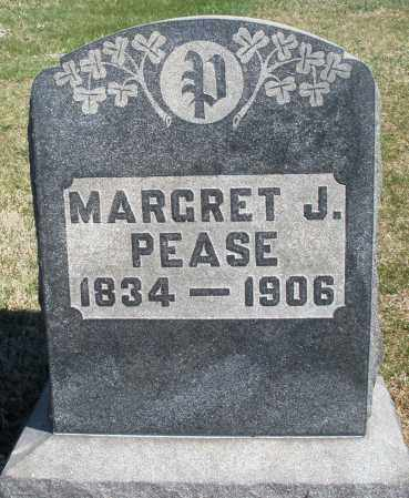 PEASE, MARGRET J. - Preble County, Ohio | MARGRET J. PEASE - Ohio Gravestone Photos