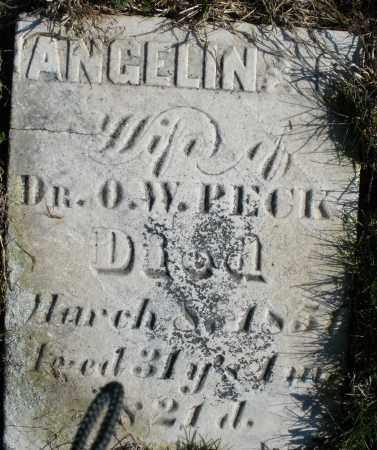 PECK, ANGELINE - Preble County, Ohio   ANGELINE PECK - Ohio Gravestone Photos