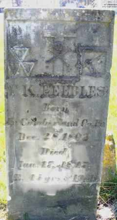 PEEBLES, ? K. - Preble County, Ohio | ? K. PEEBLES - Ohio Gravestone Photos