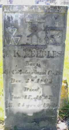 PEEBLES, ? K. - Preble County, Ohio | ? K. PEEBLES - Ohio Gravestone Photos