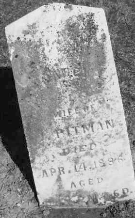 PITTMAN, WIFE - Preble County, Ohio | WIFE PITTMAN - Ohio Gravestone Photos