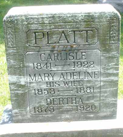 PLATT, MARY ADELINE - Preble County, Ohio | MARY ADELINE PLATT - Ohio Gravestone Photos