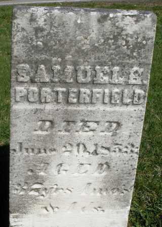 PORTERFIELD, SAMUEL B. - Preble County, Ohio | SAMUEL B. PORTERFIELD - Ohio Gravestone Photos