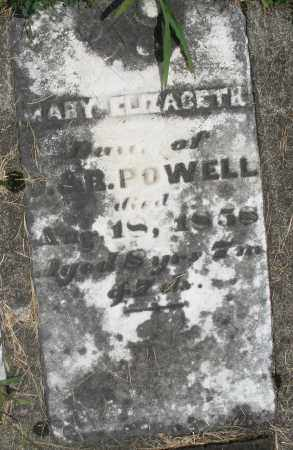POWELL, MARY ELIZABETH - Preble County, Ohio | MARY ELIZABETH POWELL - Ohio Gravestone Photos