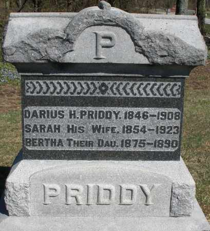 PRIDDY, DARIUS H. - Preble County, Ohio | DARIUS H. PRIDDY - Ohio Gravestone Photos