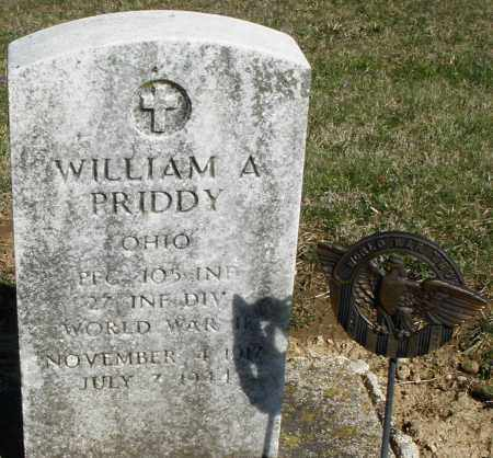 PRIDDY, WILLIAM A. - Preble County, Ohio | WILLIAM A. PRIDDY - Ohio Gravestone Photos