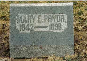 STRAW PRYOR, MARY E. - Preble County, Ohio | MARY E. STRAW PRYOR - Ohio Gravestone Photos