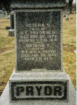 PRYOR, OCTAVIA A. - Preble County, Ohio | OCTAVIA A. PRYOR - Ohio Gravestone Photos