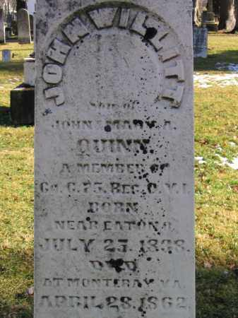 QUINN, JOHN WILLITT - Preble County, Ohio | JOHN WILLITT QUINN - Ohio Gravestone Photos