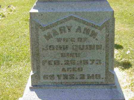 QUINN, MARY ANN - Preble County, Ohio | MARY ANN QUINN - Ohio Gravestone Photos