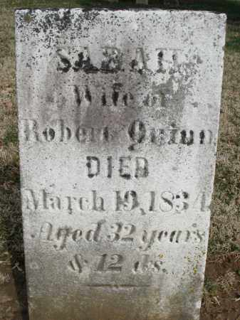 QUINN, SARAH - Preble County, Ohio | SARAH QUINN - Ohio Gravestone Photos