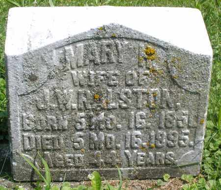 RALSTON, MARY - Preble County, Ohio | MARY RALSTON - Ohio Gravestone Photos