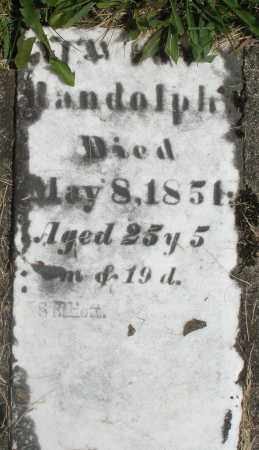 RANDOLPH, ? - Preble County, Ohio | ? RANDOLPH - Ohio Gravestone Photos