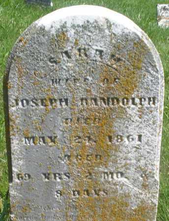 RANDOLPH, SARAH - Preble County, Ohio | SARAH RANDOLPH - Ohio Gravestone Photos