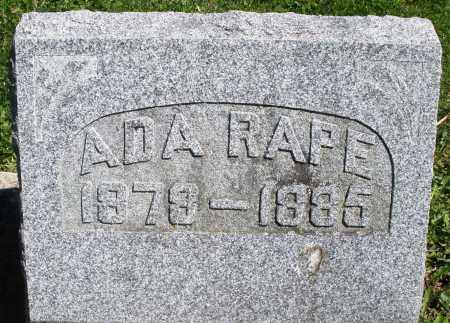 RAPE, ADA - Preble County, Ohio | ADA RAPE - Ohio Gravestone Photos