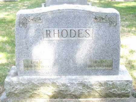 RHOADES, IRVIN - Preble County, Ohio | IRVIN RHOADES - Ohio Gravestone Photos