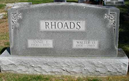 RHOADS, WALTER O. - Preble County, Ohio | WALTER O. RHOADS - Ohio Gravestone Photos