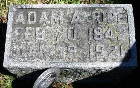 RICE, ADAM A. - Preble County, Ohio | ADAM A. RICE - Ohio Gravestone Photos