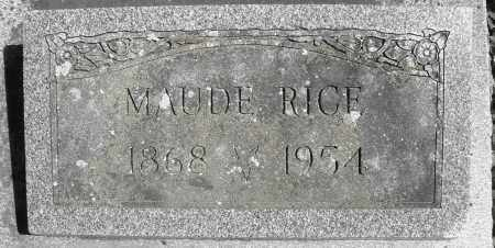 RICE, MAUDE - Preble County, Ohio | MAUDE RICE - Ohio Gravestone Photos