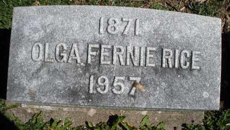 RICE, OLGA FERNIE - Preble County, Ohio   OLGA FERNIE RICE - Ohio Gravestone Photos