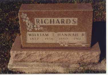RICHARDS, HANNAH R. - Preble County, Ohio | HANNAH R. RICHARDS - Ohio Gravestone Photos