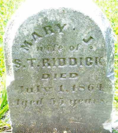 RIDDICK, MARY J. - Preble County, Ohio | MARY J. RIDDICK - Ohio Gravestone Photos