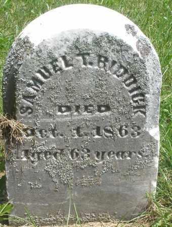 RIDDICK, SAMUEL T. - Preble County, Ohio | SAMUEL T. RIDDICK - Ohio Gravestone Photos