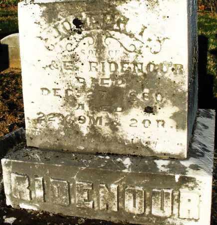 RIDENOUR, JOSEPH - Preble County, Ohio | JOSEPH RIDENOUR - Ohio Gravestone Photos