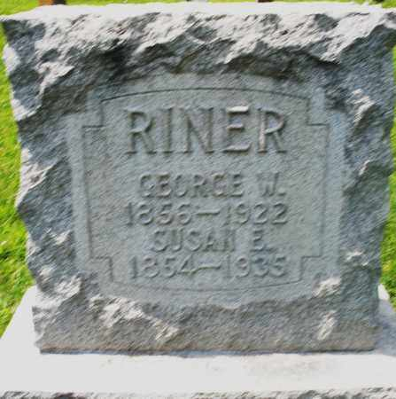 RINER, GEORGE W. - Preble County, Ohio | GEORGE W. RINER - Ohio Gravestone Photos