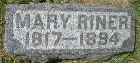 RINER, MARY - Preble County, Ohio | MARY RINER - Ohio Gravestone Photos