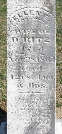 RITZ, ELLEN E. - Preble County, Ohio | ELLEN E. RITZ - Ohio Gravestone Photos