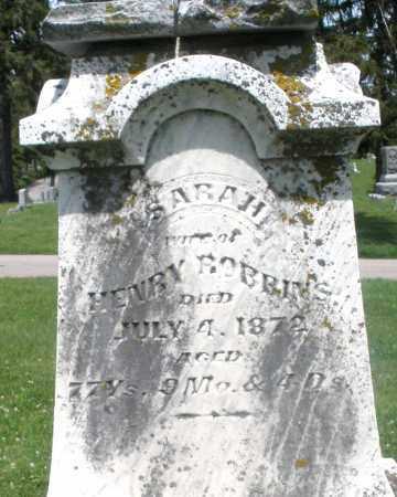 ROBBINS, SARAH - Preble County, Ohio | SARAH ROBBINS - Ohio Gravestone Photos