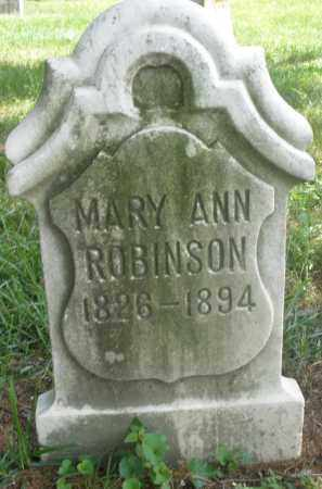 ROBINSON, MARY ANN - Preble County, Ohio | MARY ANN ROBINSON - Ohio Gravestone Photos