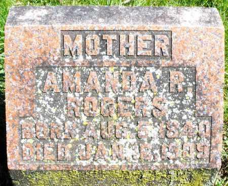 ROGERS, AMANDA R. - Preble County, Ohio | AMANDA R. ROGERS - Ohio Gravestone Photos