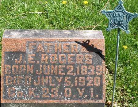 ROGERS, J.E. - Preble County, Ohio | J.E. ROGERS - Ohio Gravestone Photos