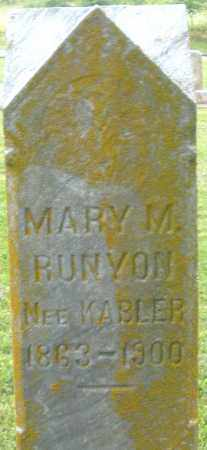 KABLER RUNYON, MARY M. - Preble County, Ohio | MARY M. KABLER RUNYON - Ohio Gravestone Photos
