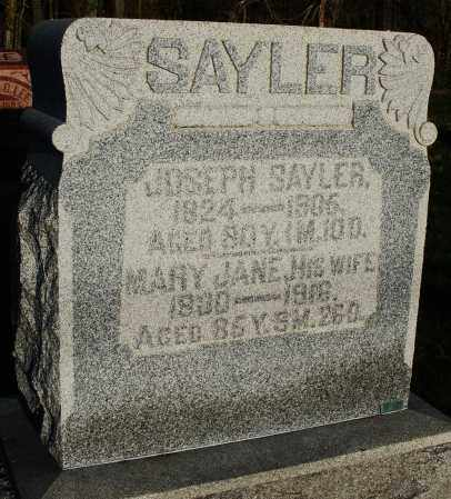SAYLER, JOSEPH - Preble County, Ohio | JOSEPH SAYLER - Ohio Gravestone Photos