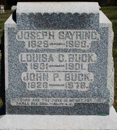 BUCK, LOUISA C. - Preble County, Ohio | LOUISA C. BUCK - Ohio Gravestone Photos