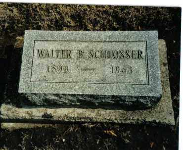 SCHLOSSER, WALTER B. - Preble County, Ohio | WALTER B. SCHLOSSER - Ohio Gravestone Photos