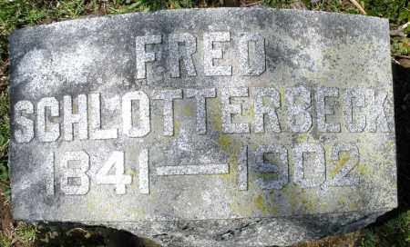 SCHLOTTERBECK, FRED - Preble County, Ohio | FRED SCHLOTTERBECK - Ohio Gravestone Photos