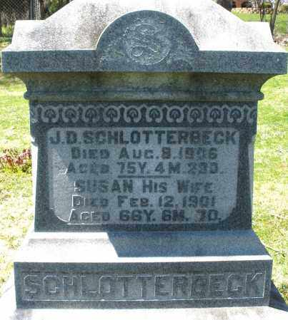 SCHLOTTERBECK, J.D. - Preble County, Ohio | J.D. SCHLOTTERBECK - Ohio Gravestone Photos