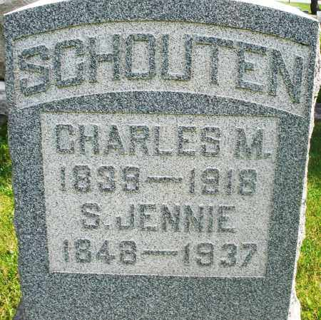 SCHOUTEN, S. JENNIE - Preble County, Ohio | S. JENNIE SCHOUTEN - Ohio Gravestone Photos
