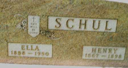 SCHUL, ELLA - Preble County, Ohio | ELLA SCHUL - Ohio Gravestone Photos